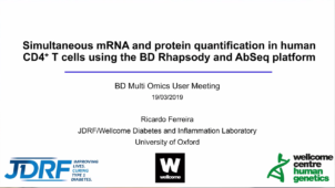 BD single-cell multi-omics user meeting seminar series. Part 1 : Dr Ricardo C. Ferreira, University of Oxford