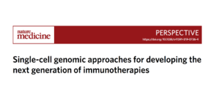 Single-cell genomic approaches for developing the next generation of immunotherapies