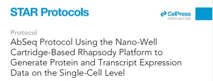 BD™ AbSeq protocol using the nano-well cartridge-based BD Rhapsody™ platform